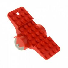 1x Lego Fabuland Vehicle Red 12x6 Chassis Chassis Car Anhängerx852c01