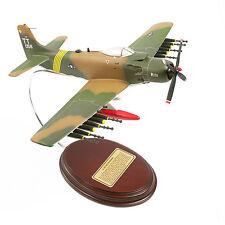 "Airplane USAF Douglas A-1E Skyraider with Ordinance 9"" Wooden Model  Aircraft"