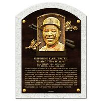 """Ozzie Smith St. Louis Cardinals Textured Hall of Fame Gallery Plaque (10"""" x 14"""")"""