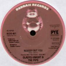 "[BARRY MANN] GLADYS KNIGHT ~ NOBODY BUT YOU / PIPE DREAMS ~ 1976 UK 7"" SINGLE"