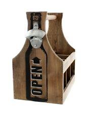 """Flaschenträger """"Opener"""", Flaschenkorb, für 6 Flaschen, T 17cm x B 25cm x H 29cm"""