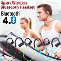 Wireless Bluetooth Sports Stereo Headset Headphone Earphone For SmartPhone Tab