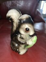 Vintage Enesco Squirrel Figurine Japan Ceramic