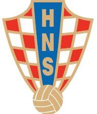 Shaped Vinyl Window Sticker 13x10cm football soccer Croatia World Cup Russia