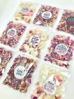 IVORY Petal Natural Biodegradable Wedding Confetti Dried Petal Bags PACKETS