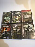 Lot Of 6 PS2 Tom Clancy Splinter Cell Sony PlayStation 2
