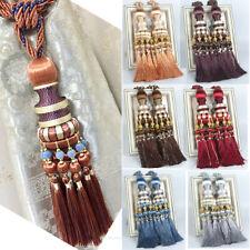Pairs Curtain Holdbacks Rope Hanging Ball Bead Tie Backs Tassel Tiebacks Window