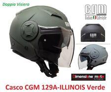 Casco JET Doppia Visiera CGM 129A ILLINOIS Verde Opaco Taglia M 57/58 cm