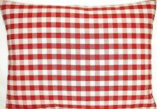 Red Checks Ian Mankin Fabric Cushion Cover Suffolk Checked Rectangle CLEARANCE