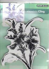 New Cling Penny Black RUBBER STAMP PASSIONATE  FLOWERS  XL  free us ship