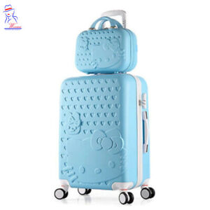 28'' women Hello Kitty Roller Trolley Luggage Toiletry cosmetic box case bag set