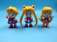lot de 3 petites figurines sailor moon vintage BE ( 1 manque les cheveux )