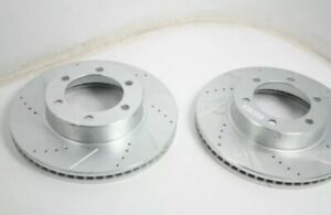 Power Stop JBR935X Cross Drilled Slotted Performance Brake Rotor 2 Pack Front