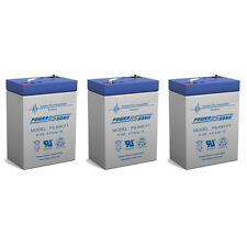 Power-Sonic 3 Pack - 6v 4ah Sealed Lead Acid Batterie (6v4ah, 6 Volt 4 AMP Hour