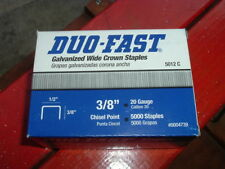 "3/8"" STAPLES 1/2"" wide,20 gauge,Chisel Point,5000 /PACK DUO-FAST 5012C #0004739"