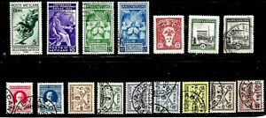 HICK GIRL- BEAUTIFUL USED VATICAN CITY STAMPS    VARIOUS ISSUES        D1234