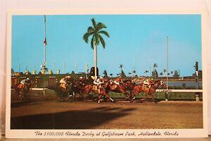Florida FL Hallandale Gulfstream Park Derby Postcard Old Vintage Card View Post