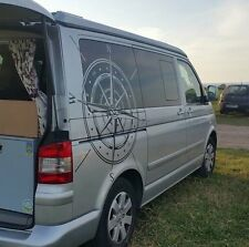 Pegatina de vinilo Rosa de viento Brujilla cohe furgoneta autocaravana caravana