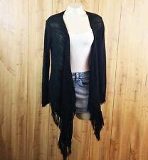 Derek Heart Black Sweater long sleeve shawl wrap