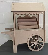 Y87 XXL CANDY CART Trolley Flat Pack Large Wedding Unpainted Sweet Display Stand