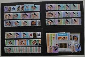 1973 Royal Wedding Crown Agents Complete 39 sets + Unm Mint Collection