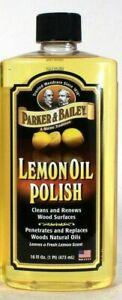 1 Parker & Bailey 16 Oz Lemon Oil Polish Cleans & Renews Wood Surfaces