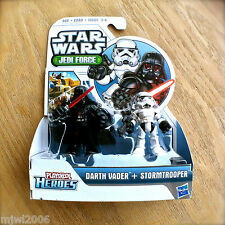STAR WARS Jedi Force DARTH VADER STORMTROOPER Playskool Heroes HASBRO Droid 2pk
