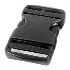 5Pcs Curved Plastic Side Quick Release Buckle for Bag Black 7.2x4.3x1.1cm Dt
