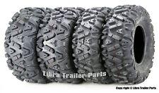 Full Set Atv Utv Tires 26x9-14 26x9x14 Front & 26x11-14 26x11x14 Rear 6Pr Mud