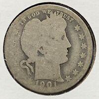1901-O 25C Barber Quarter, BETTER DATE! (49935)