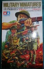 Tamiya Military Miniatures 1/35 British 8th Army Infantry Desert Rat 1973  NEUF