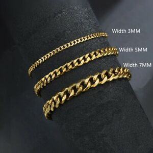 Bracelet Classic Stainless Chain Trendy Cuban Classic Steel Width Jewelry Gift