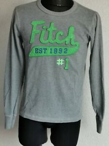 Abercrombie & Fitch mens cotton long sleeve grey T-shirt size M