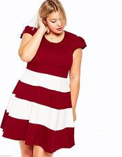 Thigh-Length Cap Sleeve Skater Dresses for Women