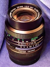 "Micro 4/3 adapted VIVITAR Close Focus 28mm f2 ""Komine"" - Manual Focus  –OM mount"