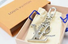 Louis Vuitton Key Ring Porte Cles Initiales Silvertone Initial LV Bag Mens