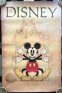 Disney Mickey Mouse Disneyland Disney World Vitruvian Man Poster