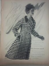 1964 Lord Taylor Design Overcoat Superb Wool Original Ad