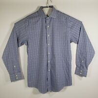 Brooks Brothers Mens Dress Shirt Button Up Long Sleeve All Cotton Size 15.5/35