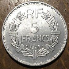 PIECE DE 5 FRANCS LAVRILLIER 1949 (405) ALUMINIUM