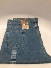 New Carhartt Denim Blue Jeans Relaxed Fit Tapered Leg 46x32 w/ Tags NWT B17STW