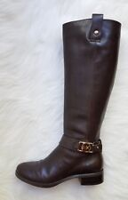 Women's MICHAEL Michael Kors 'Charm' Dark Brown Leather Riding Boots Sz 6M