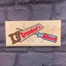 Grandads Shed (Saw Screwdriver) - Plaque / Sign / Gift -Fathers Day Workshop 194
