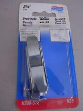 National Draw Hasp- V35- Zinc- 2 3/4""