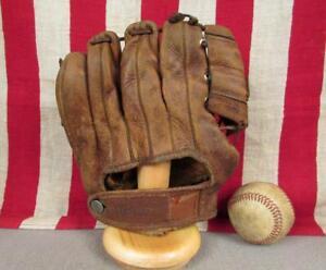 Vintage 1950s Hutch Leather Baseball Glove 40L Richie Ashburn Model HOF Phillies