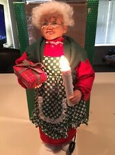 Vintage Animated 1993 Holiday Creations Mrs. Claus Motionette-