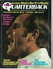 1973 Quarterback magazine football Don Shula, Miami Dolphins FAIR