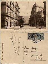 Palermo, via roma e chiosco due palme, animata viaggiata 1925