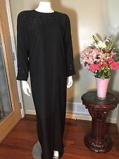 Black Farasha Khaleeji Abaya Jilbab With Hijab Made In Dubai Size S 54