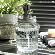 VINTAGE Kilner Mason Jar SOAP DISPENSER IN VETRO CON POMPA IN METALLO CROMATO